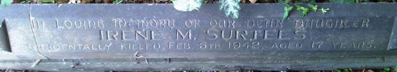 Irene's grave