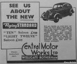 Central Motor Works Limited (advert) - 1936